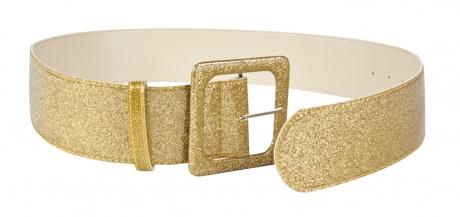 Gürtel Partygürtel Discogürtel Accessoires Zubehör Glitzergürtel gold