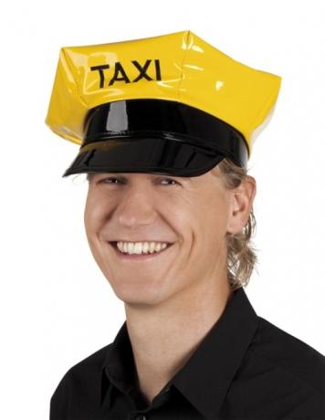 Taxifahrer Taxifahrerkappe gelb Driver Chauffeur Karneval Fasching