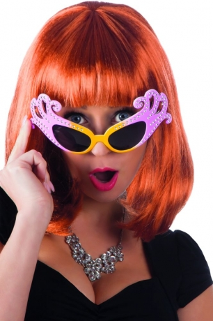 Partybrille Eltonbrille Partystar Popstar Brille mit Strass