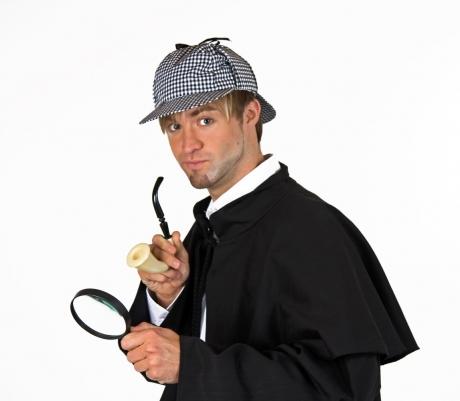 Sherlock Detektiv Set Privatdetektiv 3 teilig karierte Schlägermütze