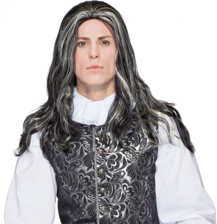 Perücke Baron Marquis Mittelalter Hofherr Edelmann