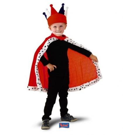 König Kaiser Prinz Königsumhang für Kinder Kinderkönig