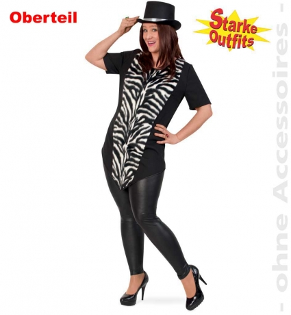 Zebra Big Longshirt Oversize auch Übergröße 46 50 54