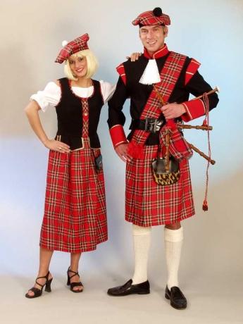 Schotte Schottenkostüm Schottenrock Komplett Kostüm