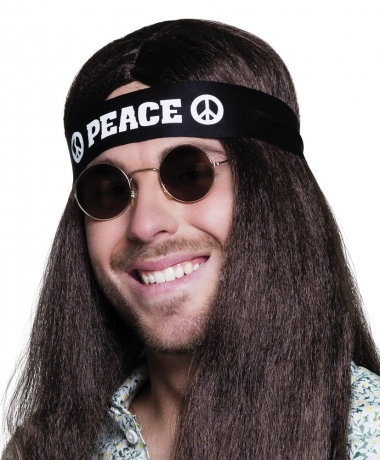Peace Hippie Kopfband Hippiestirnband Mottoparty Karneval
