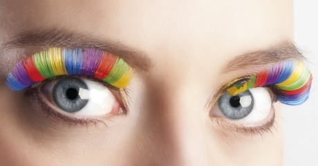 Künstliche Wimpern Wimpernverlängerung Einhorn Regenbogenfarben