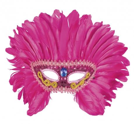 Federmaske pink Vogel Flamingo Flamingomaske Vogelmaske