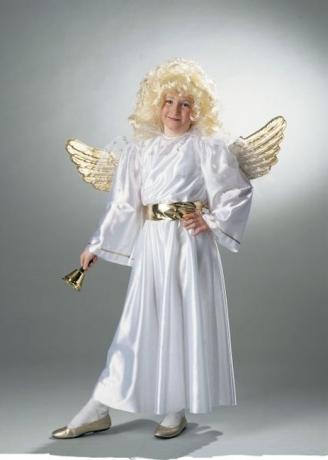 Engel Christkind Engelskleid + Engelsflügel Kinder