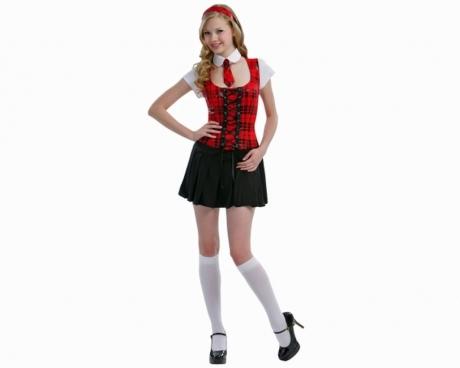 College Girl Schulmädchen Kostüm Damenverkleidung Mottoparty Karneval
