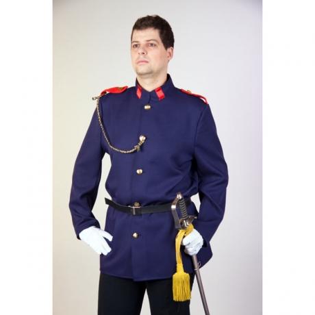 Uniform Jacke Offizier Hauptmann Feuerwehr Wachmann Kostüm