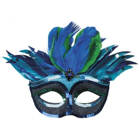 Pfau Pfauenmaske Augenmaske Vogelmaske Federmaske