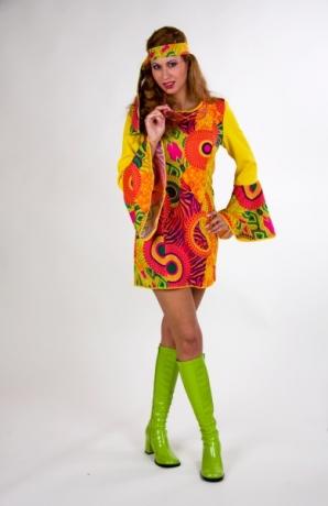 Hippiekostüm Damenverkleidung 70er Jahre Partykostüm Fasching Karneval