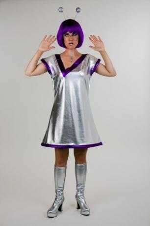 Galaxia Damenkostüm Space Weltall Verkleidung Mottoparty Faschingskost