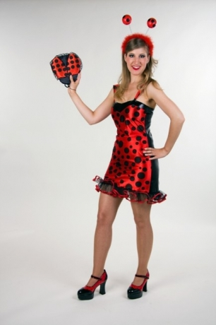 Marissa Marienkäfer Minikleid Faschingskostüm Partykostüm Karneval