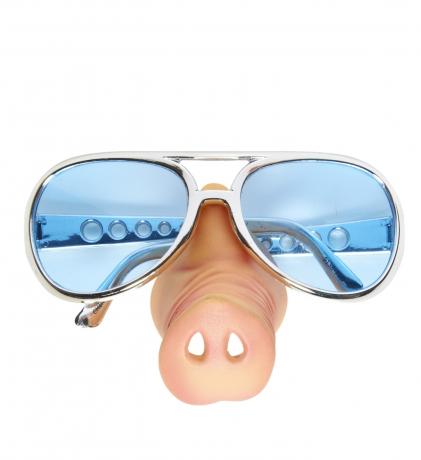 Schwein Schweinebrille Schweinenase Partybrille Junggesellenabschied