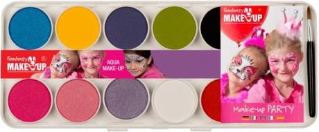 Aqua Malkasten 10 Color und Aquafarben Make Up Schminke