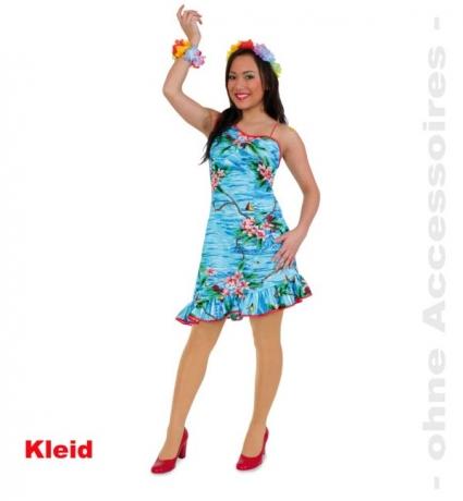 Kleid Hula Hawaii Sommerparty Sommerfest Damenkostüm Faschingsparty