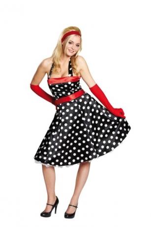 50er Jahre Kleid Rockabilly Ballonkleid Faschingskostüm Damenkleid Par