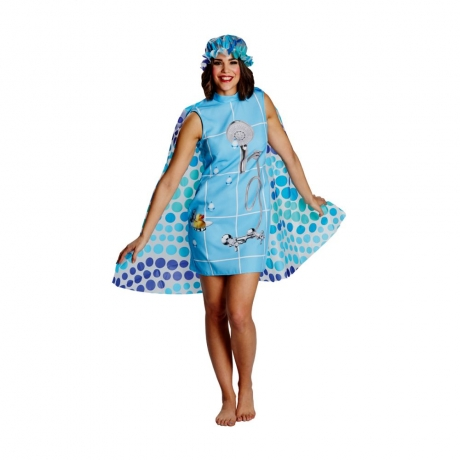 Dusche Duschvorhang Kostüm Badewanne Duschumhang + Duschhaube