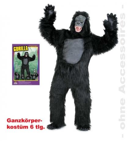 Gorilla Herrenkostüm Verkleidung Mottoparty Fastnacht Kostümfest Affe