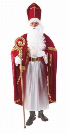 Bischof Bischofsrobe Sankt Nikolaus Kostüm mit Mitra Weihnachten