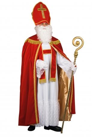 Bischof Sankt Nikolaus Komplett Kostüm edel + Zubehör Weihnachtsmann