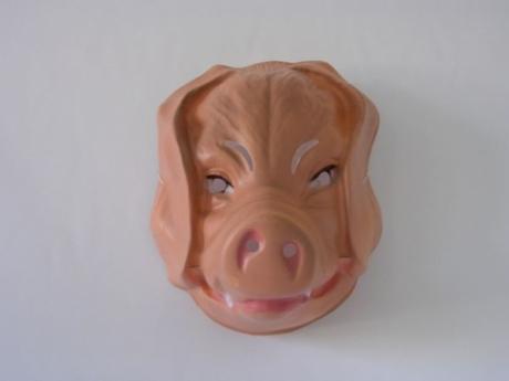 Schwein Tiermaske Karneval Fasching Kostüm Pary