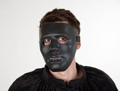Maske schwarz Gesichtsmaske einfach bizzar fetisch rubber