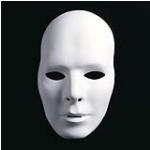 Weiße Maske unbemalt Karneval fasching Kostüm Party