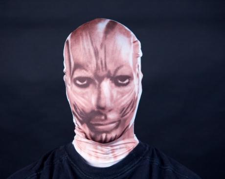 Morphmaske Maske Pantomime Muskelgesicht