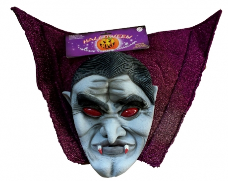 Oma alte Frau Maske mit Haar und Haube Karneval Fasching Kostüm Party