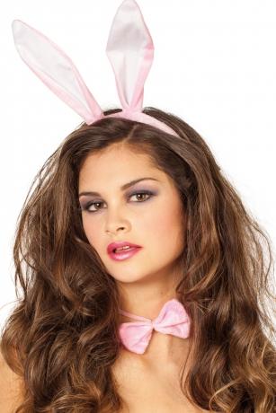Hasenset Puschelschwanz Hasenohren rosa Osterhase Bunny