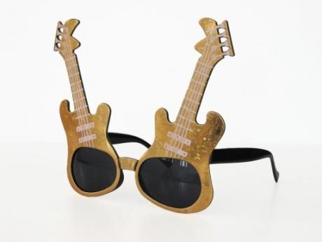 Rock´n Roll Elvis Gitarren Party Brille 60er 70er Jahre