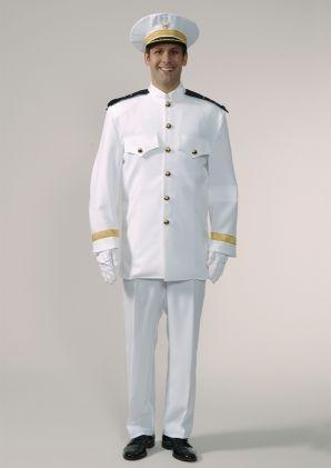 Offizier Steward Marine Edel Kostüm Theater Karneval