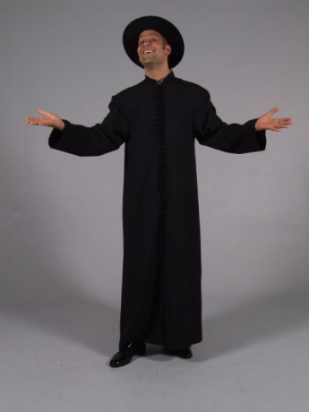 Priester Kostüm schwarz Geistlicher Karneval Fasching
