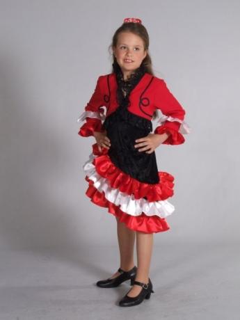 Spanierin Flamenco Mädchen Kleid Fasching  Karneval  Party
