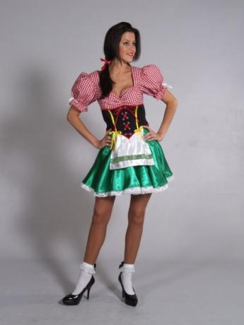 Dirndl Heidi Oktoberfest Karneval Fasching Kostüm Party
