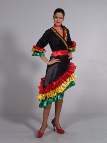 Rio Dame Kleid Brasilianerin Fasching Karneval Motto