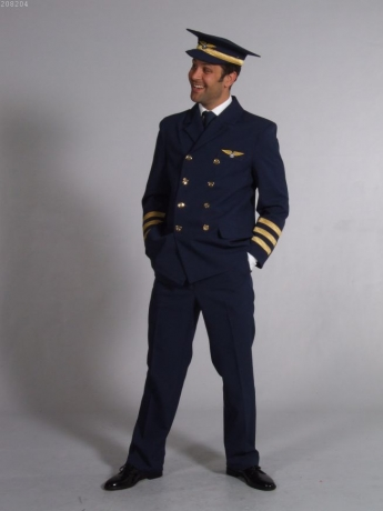 Pilotenkostüm Pilot Anzug Fasching Karneval Pilotenuniform
