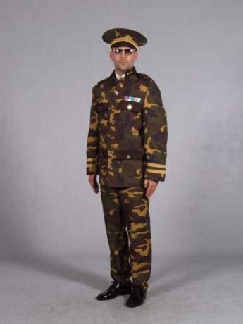 Offizier Bund Camouflage Fasching Karneval Mottoparty