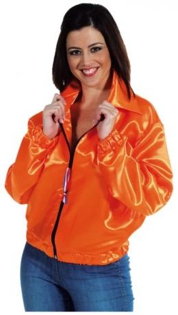 Jacke orange Damenjacke Partyjacke Faschingsjacke Mottoparty Kostüm