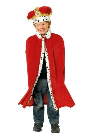 Königsumhang Königsmantel für Kinder Prinz König 80cm
