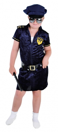 Police Mädchen Faschingskostüm Polizistin Kinderkostüm Partykostüm