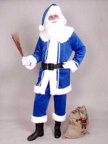 Nikolaus Weihnachtsmann Anzug blau Väterchen Frost