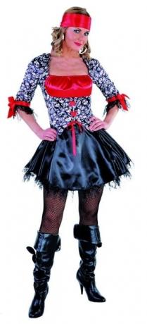 Piratin Dame Totenkopf Damenkostüm Faschingsverkleidung Partykostüm
