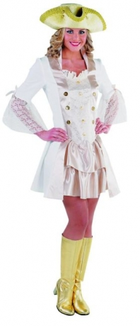 Marquise Barock Piratendame Mottoparty Kostümfest Seeräuberin