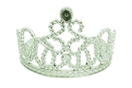 Diadem Prinzessin basic Königin Fasching Accessoires Zubehör Karneval