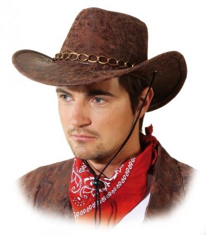 Cowboyhut Bill braun Wilder Westen Accessoires Hut Kopfbedeckung