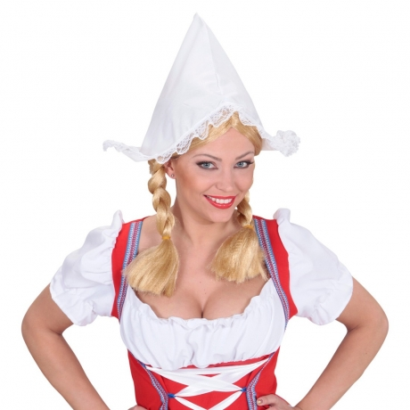 Holländerin Antje Farmer Haube Karneval Fasching Kostüm Party