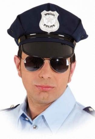 Polizeimütze blau Polizeikappe Police Uniformmütze Größenverstellbar
